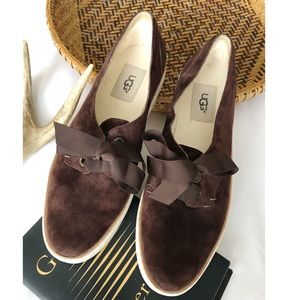 UGG Carilyn Suede Lace Up Shoes